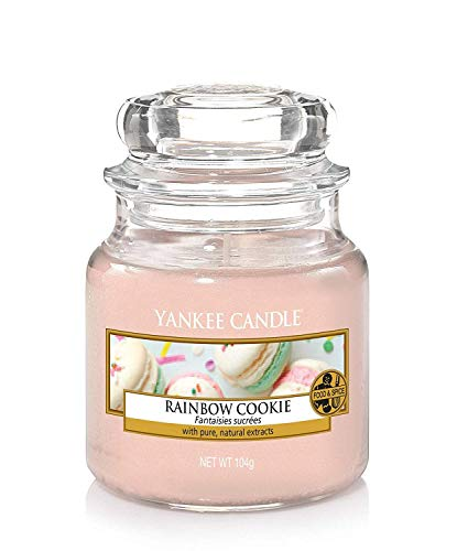 Yankee Candle Rainbow Cookie Glaskerze, pink, 5,8 x 5,8 x 8,6 cm