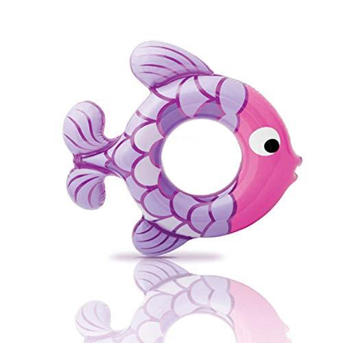 Newin Star Kinder Schwimmring, Aufblasbarer Unterarm Schwimmring Fisch Pool Float Ring mit Schnellventile Pool Party Dekorationen Spielzeug für Kinder (Lila) (Aufblasbar Pool Fisch)