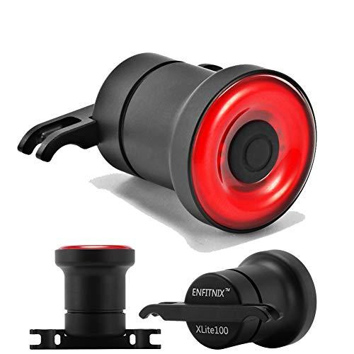 Houkiper COB LED EnSca Lens Fanale posteriore per bicicletta Indicatore di direzione Luce freno USB Ricaricabile