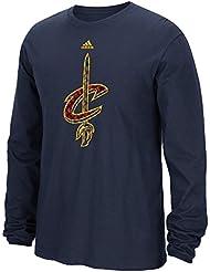 """Cleveland Cavaliers Adidas NBA """"Tech Quilt"""" Premium Print L/S Men's T-Shirt Chemise"""