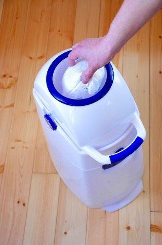 Geruchsdichter Windeleimer Diaper Champ regular blau – für normale Müllbeutel - 6