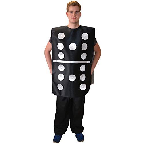 Kostüm Domino mit veränderbarer Augenzahl Einheitsgröße Dominostein lustig Fasching ()