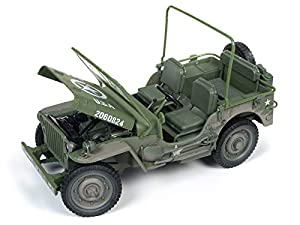 Auto World AWML005B 1:18 1941 Jeep Willys-Olive Drab Dirty Versión, Multi