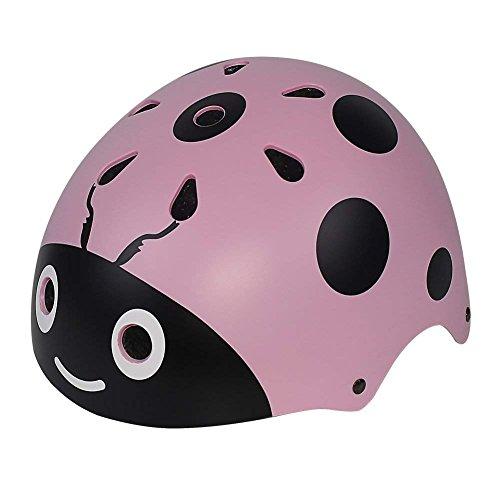 Delaman Casco para Niños Casco Protector para Niños Diadema Ajustable Diseño Vendado para 3 a 8 Años Niños y Niñas para Bicicletas, Monopatín, Scooter, Bicicleta y Carro ( Color : Red ) (Pink)