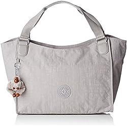 Kipling - Sarande N, Shoppers y bolsos de hombro Mujer, Grey (N Slate Grey), 45.5x28.5x16.5 cm (W x H L)