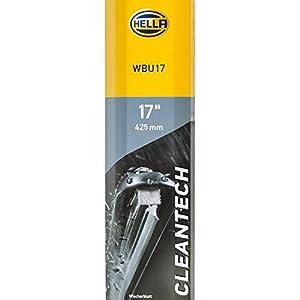 """HELLA 9XW 358 053-171 Scheibenwischer - Cleantech WBU17 - Flachbalkenwischerblatt - für Linkslenker - 17""""/425mm - vorne - Menge: 1"""
