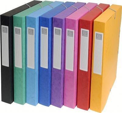 Exacompta Set 8Packungen à Ranking Exabox rücken 25mm Karton A4zufällige Farbauswahl