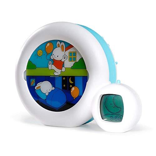 Claessens' Kid - Moon 3 en 1 (veilleuse, indicateur & réveil) - Reveil Musical Enfant Educatif Jour/Nuit Lumineux...
