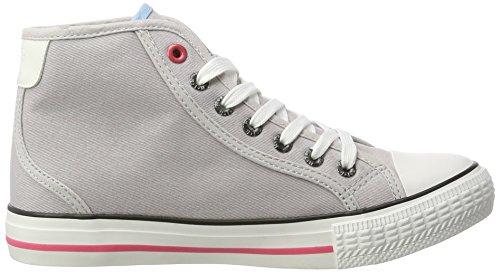 H.I.S Damen 158-010 High-Top Grau (Grey/Pink)