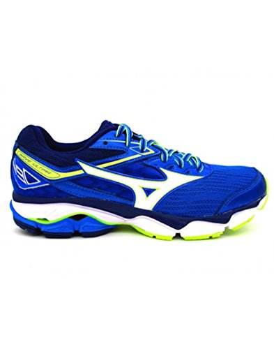 Mizuno Wave Ultima 8, Scarpe da Ginnastica Uomo Blu (Directoire Blue/White/Safety Yellow)