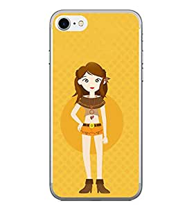 Fiobs Designer Back Case Cover for Apple iPhone 7 Plus (Fashion Girl Garly Love Style)