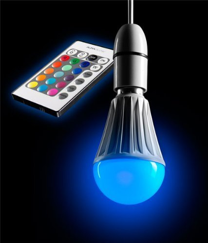 Auraglow 10 W Remote Control Colour Changing LED Light Bulb B22 Super Bright Warm White Dimmable Version – 2nd Generation