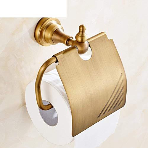 Paperhold Badezimmer Papierhandtuchhalter mit Regal Toilettenpapierschale Messing WC Wasserdicht hygienischen Tablett Antik Papier Halter - Hygienische Regale