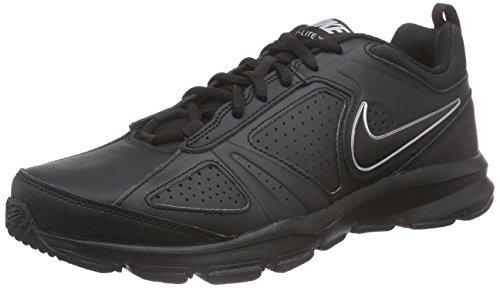 Nike T-Lite Xi- Scarpe fitness uomo, colore nero (black/black-metallic silverblack/black-metallic silver), taglia 43 EU (8.5 UK)
