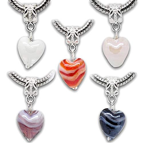 cryl Perlen zum auffädeln Bastelperlen Schmuckherstellung DIY Halsketten Armband 27x12mm ()