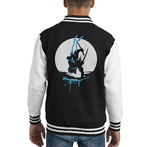 Mutant Ninja Turtles Leonardo Silhouette Kid's Varsity Jacket ()