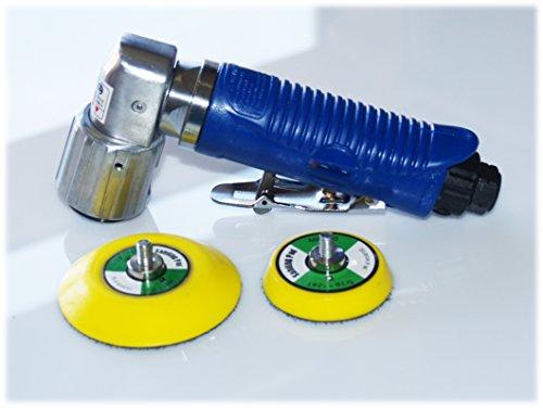 Craft-Equip Mini Druckluft Exzenterschleifer 75mm + 50mm Klett-Schleifteller im Lieferumfang