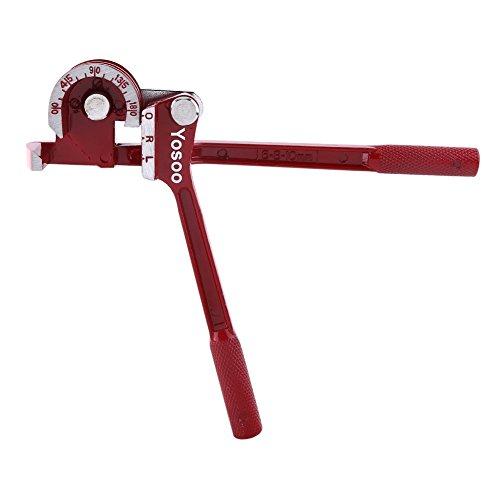 Rohrzangen Rohrbiege Rohrbiegewerkzeug Rohrbiegezange 180°Drei zu Eins Biegevorrichtung Aluminium Rot
