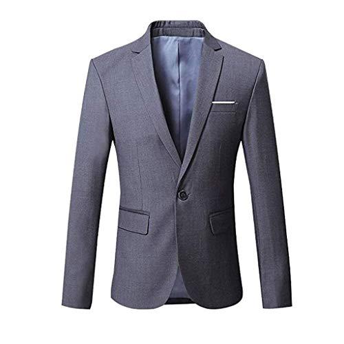 ShaDiao Sakko Herren Blazer Slim Fit Casual One Button Blazer Jacke Mantel für Mann -