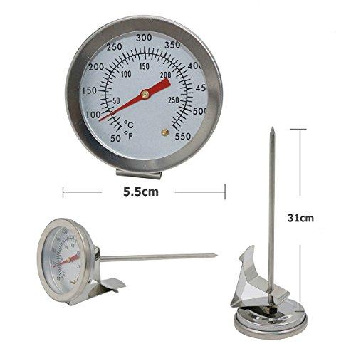 GuDoQi Öltemperatur Meter Lebensmittel Thermometer Flüssigkeit Thermometer Fühler Thermometer Küche Thermometer