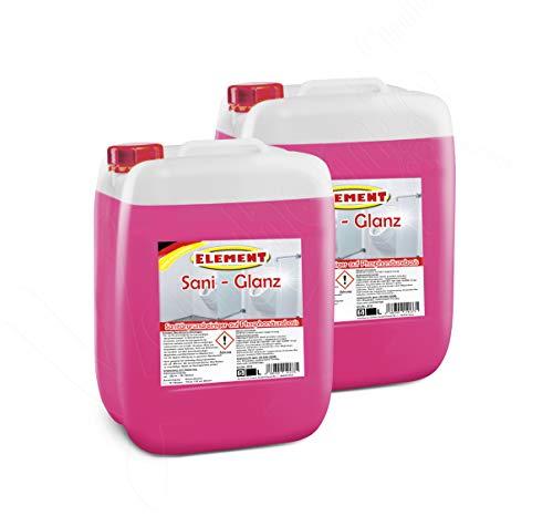Sanitärreiniger 2 x 5 Liter Fliesenreiniger Grundreiniger Konzentrat Entkalker Badreiniger WC Reiniger Kalk Reiniger
