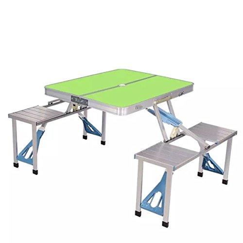 CHENGXIAOXUAN Extérieur Tables Et Chaises Portables Aluminium Tables Pliantes Tables De Décrochage des Tables De Pique-Nique Et Chaises,Green