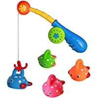 Juguetes Baño Juguetes de Pesca Juego de Agua Baño Juguete Infantil para Niños Niñas