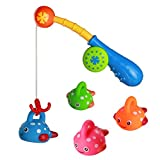 •Gioca: Questo giocattoli rende i vostri bambini di godere il momento del bagno. •Apprendimento: Si può dare un colore di destinazione per loro a pescare. •Colore: verde, rosso, blu e arancione. •Attenzione: Prendetevi cura dei vostri bam...