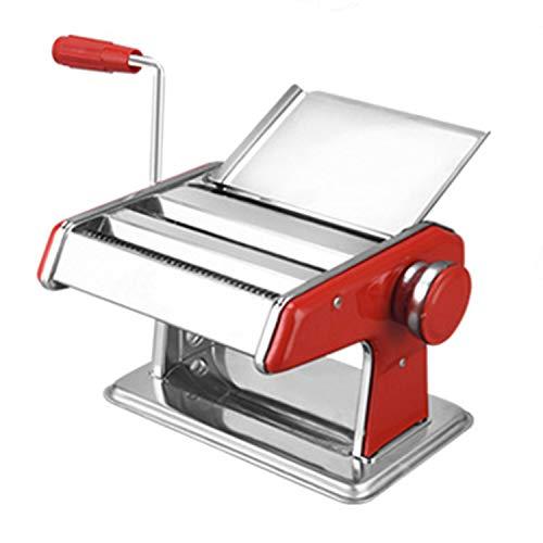 TYMWL Nudelhersteller, Nudelmaschine für den Haushalt, handgekurbelte 3-Messer-Pressmaschine aus Edelstahl,2knife -
