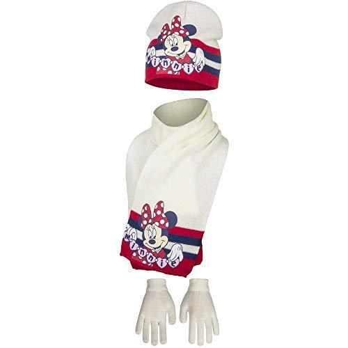 Set sciarpa cappello e guanti minnie bianco