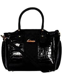 ESBEDA Black color Solid Handbag for women