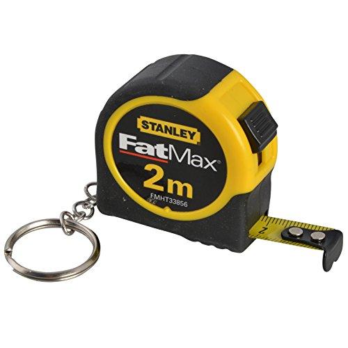 (Multi Pack) Stanley FatMax 2Meter Schlüsselanhänger Maßband [3Stück]–Min 3Jahre Garantie (Gb Multi Pack)