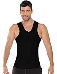 Slimming Vest Neoprene Body Shaper U-neck Zipper Ultra Sweat Absorbing Body Shaper Waist Trainer Corset Men Neoprene...