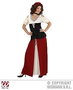 WIDMANN Widman - Disfraz de moza medieval para mujer, talla UK 44 (3186O)
