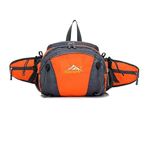 Wmshpeds Outdoor multifunzionale con tasche uomini doppia cerniera arrampicata borsa a tracolla sport impermeabile zaino di equitazione donna C
