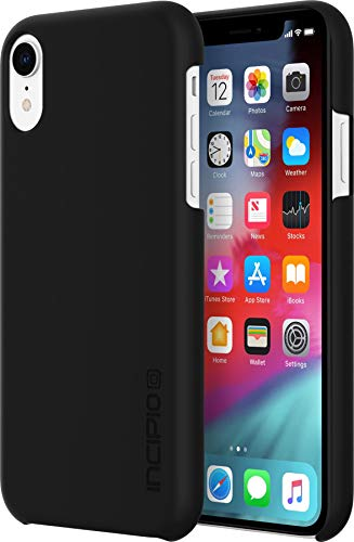Incipio Feather Schutzhülle für Apple iPhone XR - schwarz [Ultra Dünn I Sehr Leicht I Matte Soft-Touch Oberfläche I Qi kompatibel] - IPH-1753-BLK