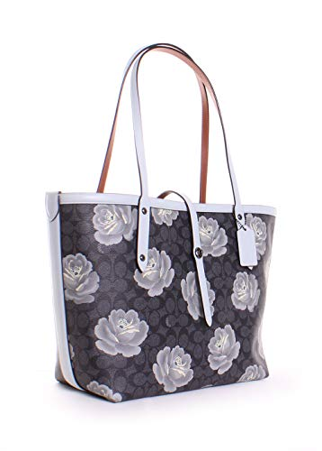 COACH Women's Market Tote in Coated Canvas Signature Dk/Charcoal Sky One Size