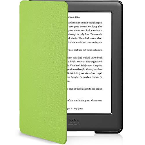 Forefront Cases Kobo Glo HD Smart Case Cover Custodia Caso Conchiglia - Ultra Sottile Leggero con Protezione Dispositivo Completa e funzione Auto Sveglia Sonno (Verde)