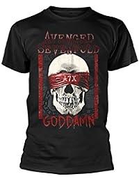 Avenged Sevenfold Men's goddamn T-Shirt Black