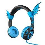 Casque d'écoute pour enfants, Casque iClever BoostCare pour enfants, limiteur de volume 85 dB, Silicone adapté aux enfants avec câble sans fil 3,5 mm pour Jack, tablette pour enfant (bleu)