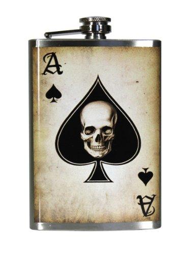 trixie-milo-ace-of-spades-steel-hip-flask