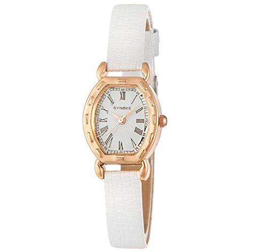 Damen Armbanduhr Frauen Berühmte weibliche Uhr Quarzuhr Quarzuhr , white - Face Damen Dual Uhr