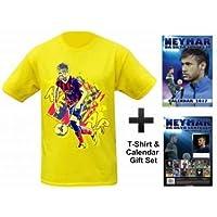 Neymar Jnr 2017Calendario e T-shirt Set Regalo, unisex adulto, 2XL (DOUBLE XXL)
