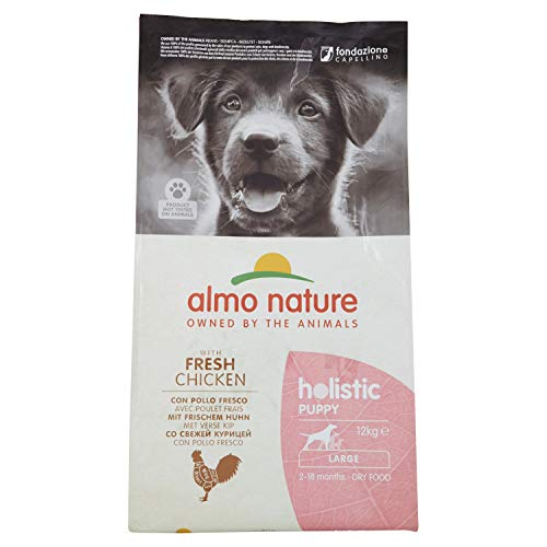 almo nature Holistic Dog Puppy Large mangime Secco Gusto Pollo e Riso kg.12