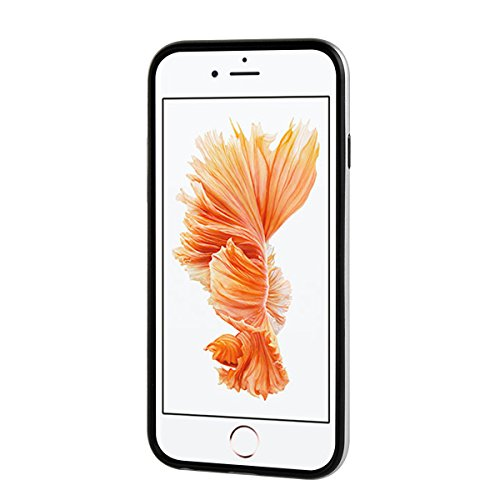 """MOONCASE iPhone 6 Plus/6s Plus Coque, Double Hybride Robuste Protection Housse Etui Couche d'Armure Lourde Case avec Béquille pour iPhone 6 Plus/iPhone 6s Plus 5.5"""" Marine Argent"""
