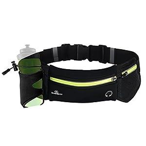 SHANSHUI Unisex Sporttasche Hüfttasche mit Flaschenhalter