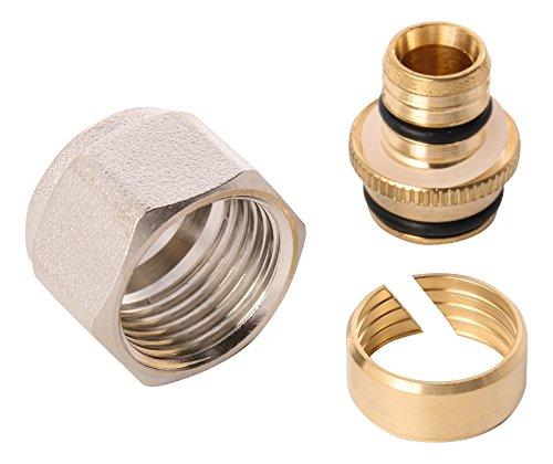 Wiroflex 26046 6 Klemmring-Adapter für Rohr mit Schraubsystem Fitting für Mehrschichtverbundrohr, Zoll, 3/4 A x 20 mm -