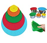 Coperchio in Silicone,Coperchio Microonde Tossico Innocuo Insapore Pentole Copertine Seal Aspirazione Coppe Riutilizzabile Kit di 5