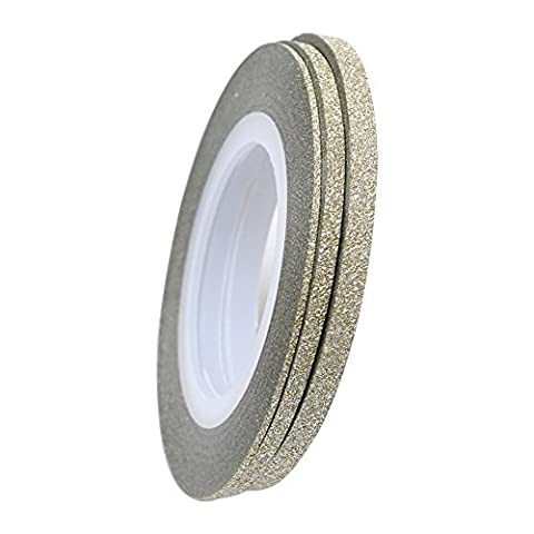 SZTARA Glitter Striping Tape Nail Foils Jewelry Sands Gold And Silver Lines Scrub Art Decor Sticker Cosmetic 3PCS Champagne