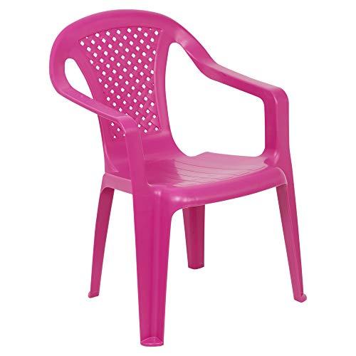 URBNLIVING Camelia Kunststoff Kinder Stuhl-pink (Menge 1)